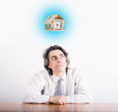 Businessman dreams Stock Images