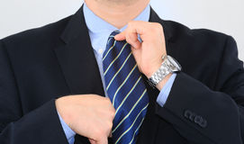 Businessman is dressing up Royalty Free Stock Photos