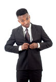 Businessman dressing up suit and tie guy Royalty Free Stock Photo