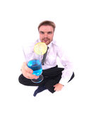Businessman and drink Royalty Free Stock Image