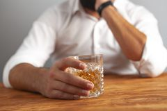 Businessman drink alcohol addiction royalty free stock image