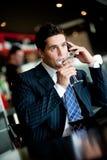 Businessman Drinking Stock Image