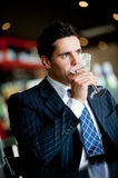 Businessman Drinking Royalty Free Stock Photo