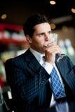 Businessman Drinking Royalty Free Stock Photo