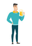 Businessman drinking beer vector illustration. Stock Photo