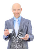 Businessman, drinking coffee Royalty Free Stock Images