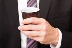 Businessman drinking coffee Royalty Free Stock Photo