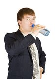 Businessman drinking water Stock Photos