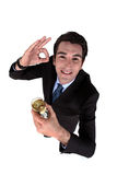 Businessman drinking wine Royalty Free Stock Photo