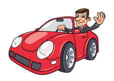 Businessman driving car 4 Royalty Free Stock Photos