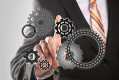 Businessman is the driving force Stock Images