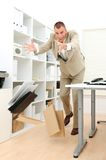 Businessman dropping stuff Stock Photos