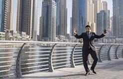 Businessman in Dubai Marina Stock Image
