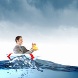 Businessman with duck Royalty Free Stock Image