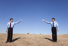 Businessman duel Stock Photography