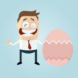 Businessman with easter egg Stock Photography