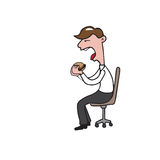 Businessman eating Stock Photo