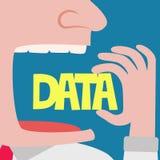 Businessman eating data vector illustration