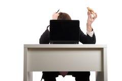 Free Businessman Eating Pizza, Stock Photo - 11805880