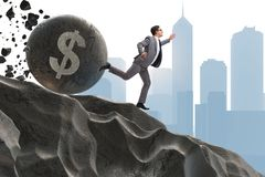 The businessman in economic crisis business concept Royalty Free Stock Image