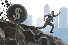 The businessman in economic crisis business concept Stock Photo