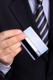 Businessman with an electronic card Royalty Free Stock Photo