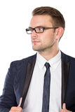 Businessman with elegant gaze, close up Stock Photography