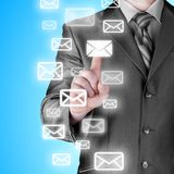 Businessman email concept Royalty Free Stock Images