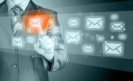 Businessman email concept Royalty Free Stock Photography