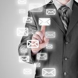 Businessman email concept Stock Images