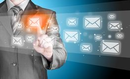 Businessman email concept Royalty Free Stock Photos