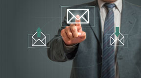 Businessman Email Concept Stock Photography