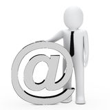 Businessman email symbol Royalty Free Stock Image