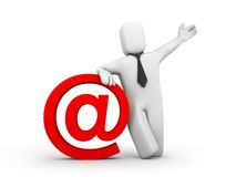 The businessman and email symbol royalty free illustration