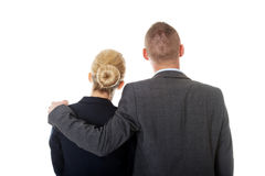 Businessman embrace his partner Royalty Free Stock Photography