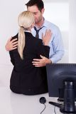 Love in the workplace Royalty Free Stock Image