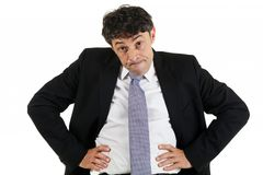 Businessman emphasising a point Royalty Free Stock Images