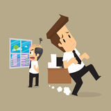 Businessman and the employers complain a lot. Vector Royalty Free Stock Photo