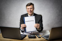 Businessman with employment contract Stock Photography