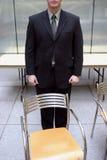 Businessman empty chair royalty free stock photos