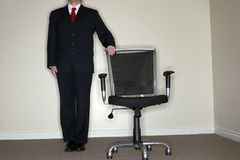 Businessman empty chair royalty free stock photography