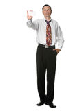 The businessman with empty cutaway Royalty Free Stock Images