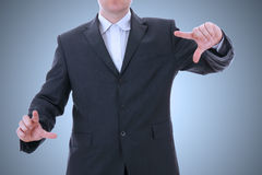 Businessman with empty hands Royalty Free Stock Photos