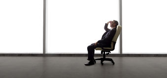 Businessman in an Empty Office Royalty Free Stock Photo