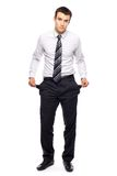 Businessman with empty pockets Royalty Free Stock Photography