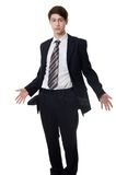 The businessman with empty pockets isolated Royalty Free Stock Image