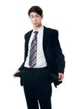 The businessman with empty pockets Royalty Free Stock Photo