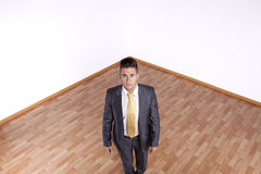 Businessman in an empty room Royalty Free Stock Images