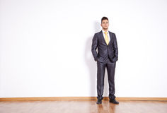 Businessman in an empty room Royalty Free Stock Photo