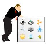 Businessman energy development vector illustration